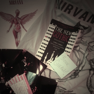 THE NEW GOTHIC among all my Nirvana swag from the Tallahassee concert in 1993. Took those photos in the corner with a really crappy $10 camera from Kmart. Oh, the 90s.